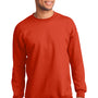 Port & Company Mens Essential Fleece Crewneck Sweatshirt - Orange