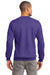 Port & Company PC90 Mens Essential Fleece Crewneck Sweatshirt Purple Back