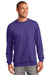 Port & Company PC90 Mens Essential Fleece Crewneck Sweatshirt Purple Front