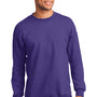 Port & Company Mens Essential Fleece Crewneck Sweatshirt - Purple