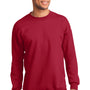 Port & Company Mens Essential Fleece Crewneck Sweatshirt - Red