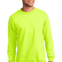 Port & Company Mens Essential Fleece Crewneck Sweatshirt - Safety Green