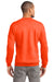 Port & Company PC90 Mens Essential Fleece Crewneck Sweatshirt Safety Orange Back