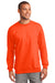 Port & Company PC90 Mens Essential Fleece Crewneck Sweatshirt Safety Orange Front
