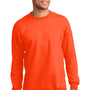 Port & Company Mens Essential Fleece Crewneck Sweatshirt - Safety Orange
