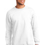 Port & Company Mens Essential Fleece Crewneck Sweatshirt - White