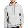 Port & Company Mens Essential Fleece Hooded Sweatshirt Hoodie - Ash Grey