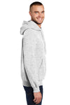 Port & Company PC90H Mens Essential Fleece Hooded Sweatshirt Hoodie Ash Grey Side