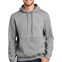 Port & Company Mens Essential Fleece Hooded Sweatshirt Hoodie - Heather Grey