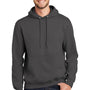 Port & Company Mens Essential Fleece Hooded Sweatshirt Hoodie - Charcoal Grey
