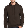 Port & Company Mens Essential Fleece Hooded Sweatshirt Hoodie - Dark Chocolate Brown