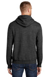 Port & Company PC90H Mens Essential Fleece Hooded Sweatshirt Hoodie Heather Dark Grey Back