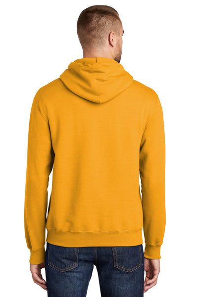 Port & Company PC90H Mens Essential Fleece Hooded Sweatshirt Hoodie Gold Back