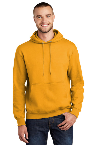 Port & Company PC90H Mens Essential Fleece Hooded Sweatshirt Hoodie Gold Front