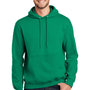 Port & Company Mens Essential Fleece Hooded Sweatshirt Hoodie - Kelly Green