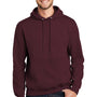 Port & Company Mens Essential Fleece Hooded Sweatshirt Hoodie - Maroon
