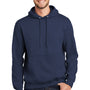 Port & Company Mens Essential Fleece Hooded Sweatshirt Hoodie - Navy Blue