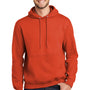 Port & Company Mens Essential Fleece Hooded Sweatshirt Hoodie - Orange