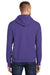 Port & Company PC90H Mens Essential Fleece Hooded Sweatshirt Hoodie Purple Side