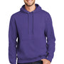 Port & Company Mens Essential Fleece Hooded Sweatshirt Hoodie - Purple