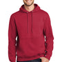 Port & Company Mens Essential Fleece Hooded Sweatshirt Hoodie - Red