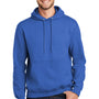 Port & Company Mens Essential Fleece Hooded Sweatshirt Hoodie - Royal Blue