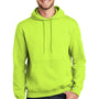 Port & Company Mens Essential Fleece Hooded Sweatshirt Hoodie - Safety Green