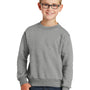 Port & Company Youth Core Fleece Crewneck Sweatshirt - Heather Grey