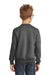 Port & Company PC90Y Youth Core Fleece Crewneck Sweatshirt Heather Dark Grey Back
