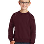 Port & Company Youth Core Fleece Crewneck Sweatshirt - Maroon