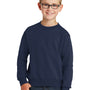 Port & Company Youth Core Fleece Crewneck Sweatshirt - Navy Blue