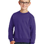 Port & Company Youth Core Fleece Crewneck Sweatshirt - Purple