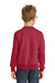 Port & Company PC90Y Youth Core Fleece Crewneck Sweatshirt Red Back