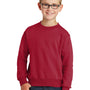 Port & Company Youth Core Fleece Crewneck Sweatshirt - Red