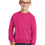 Port & Company Youth Core Fleece Crewneck Sweatshirt - Sangria Pink