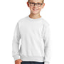 Port & Company Youth Core Fleece Crewneck Sweatshirt - White