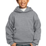 Port & Company Youth Core Fleece Hooded Sweatshirt Hoodie - Heather Grey