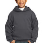 Port & Company Youth Core Fleece Hooded Sweatshirt Hoodie - Charcoal Grey
