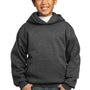 Port & Company Youth Core Fleece Hooded Sweatshirt Hoodie - Heather Dark Grey