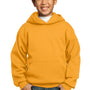 Port & Company Youth Core Fleece Hooded Sweatshirt Hoodie - Gold