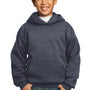 Port & Company Youth Core Fleece Hooded Sweatshirt Hoodie - Heather Navy Blue