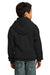 Port & Company PC90YH Youth Core Fleece Hooded Sweatshirt Hoodie Black Back
