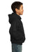 Port & Company PC90YH Youth Core Fleece Hooded Sweatshirt Hoodie Black Side