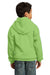 Port & Company PC90YH Youth Core Fleece Hooded Sweatshirt Hoodie Lime Green Back