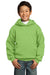 Port & Company PC90YH Youth Core Fleece Hooded Sweatshirt Hoodie Lime Green Front