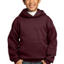 Port & Company Youth Core Fleece Hooded Sweatshirt Hoodie - Maroon