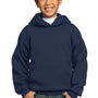 Port & Company Youth Core Fleece Hooded Sweatshirt Hoodie - Navy Blue
