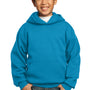 Port & Company Youth Core Fleece Hooded Sweatshirt Hoodie - Neon Blue