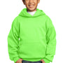 Port & Company Youth Core Fleece Hooded Sweatshirt Hoodie - Neon Green