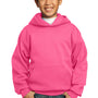Port & Company Youth Core Fleece Hooded Sweatshirt Hoodie - Neon Pink